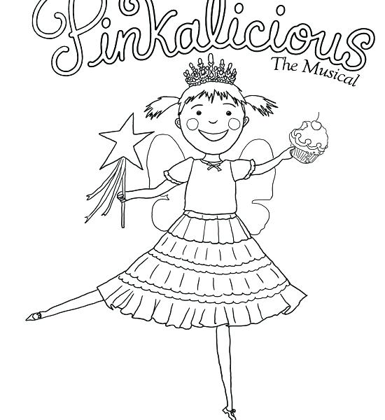 550x600 Pinkalicious Coloring Pages Coloring Pages Preschool To Good Page