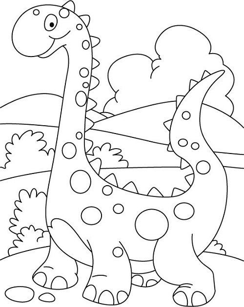 500x630 Dinosaur Coloring Pages For Preschoolers 01 Art Projects