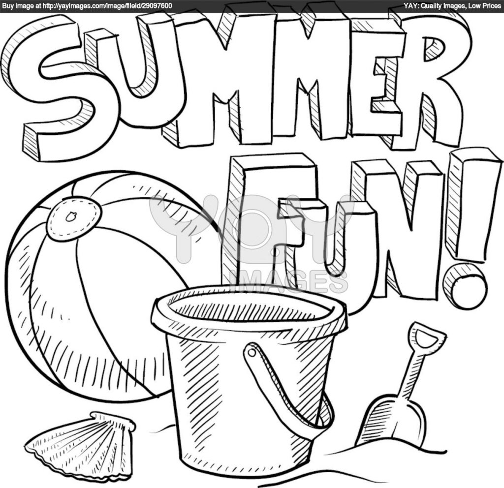 Free Coloring Pages Summertime