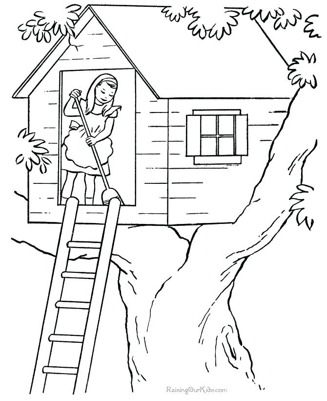Free House Coloring Pages at GetColorings.com | Free printable ...