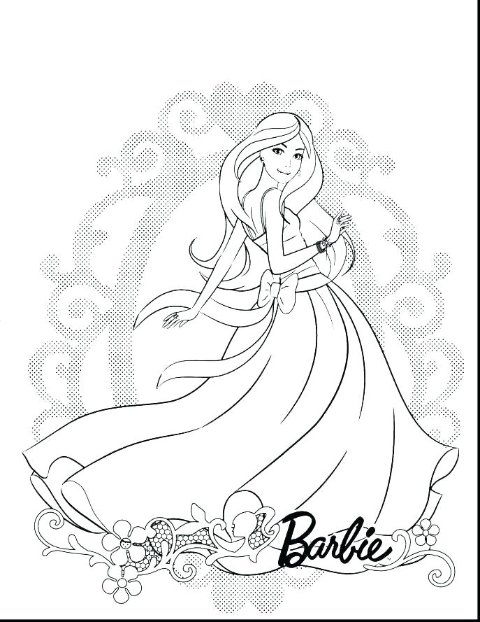 687x889 Free Printable Barbie Coloring Pages Fresh