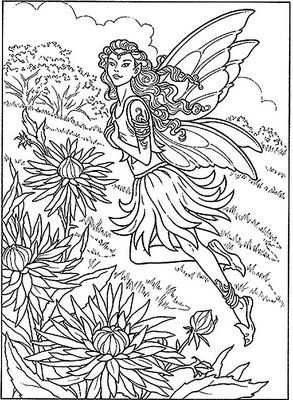 Free Printable Coloring Pages For Adults Fairies