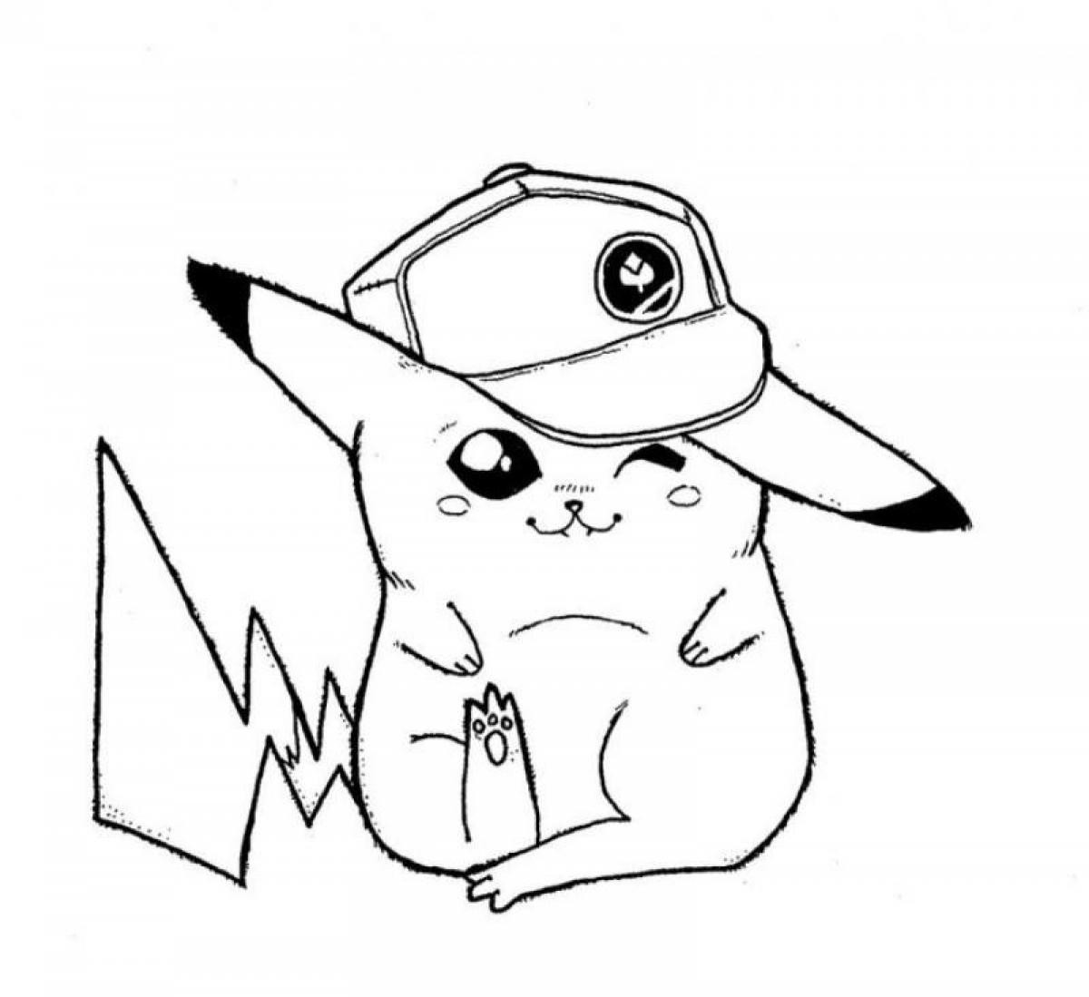 1200x1099 Free Printable Pikachu Coloring Pages For Kids Alluring Pokemon