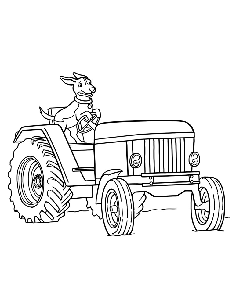 tractors coloring pages to print - photo#14
