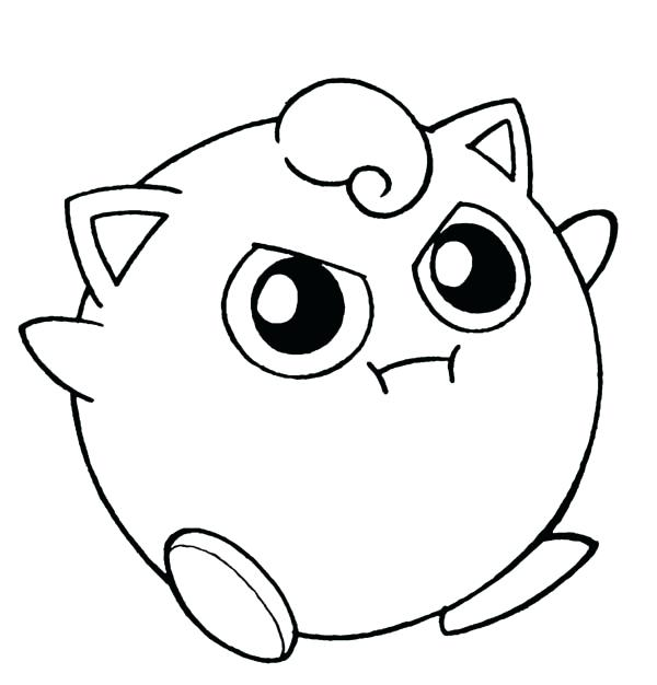600x626 Pokemon Coloring Pages Jigglypuff Amazing Coloring Page Free