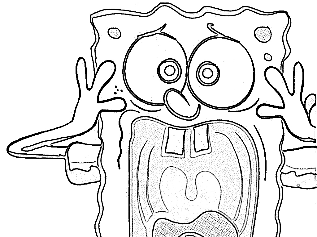 1024x768 Sponge Bob Square Pants Coloring Pages