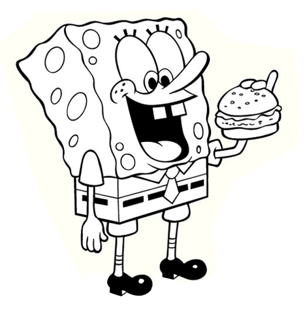 1008x1024 Spongebob Coloring Pages Free