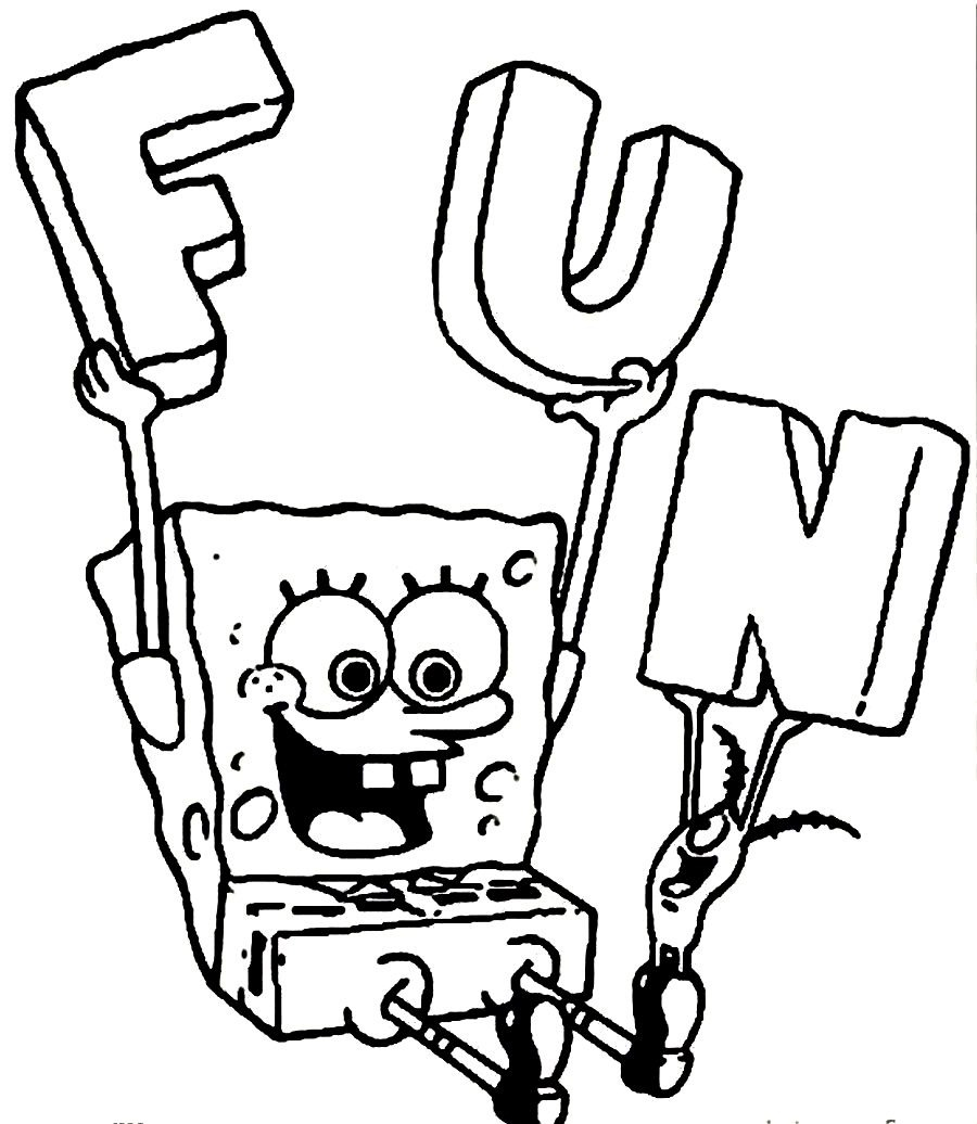 900x1036 Willpower Sponge Bob Colouring Pages Spongebob