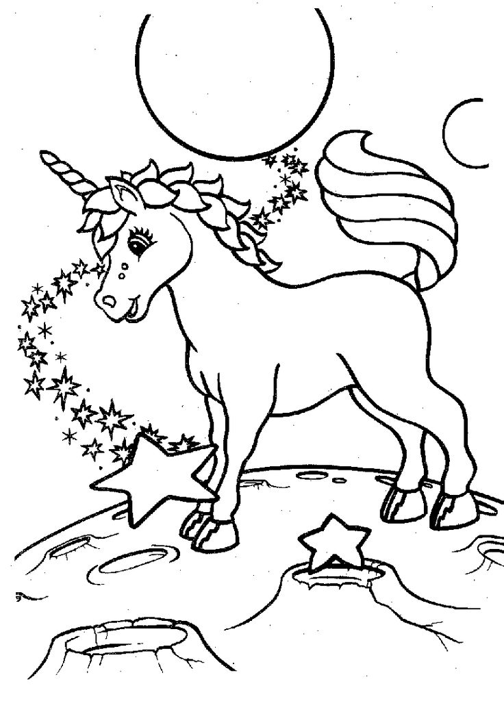 Funny Horse Coloring Pages