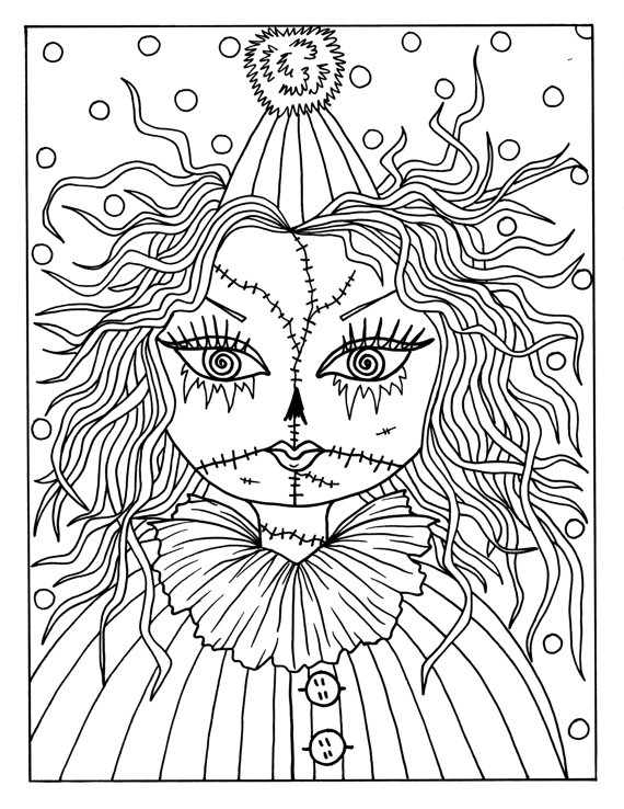 Girl Halloween Coloring Pages