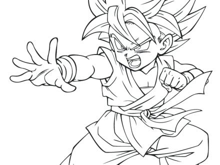 Goku Vs Vegeta Coloring Pages