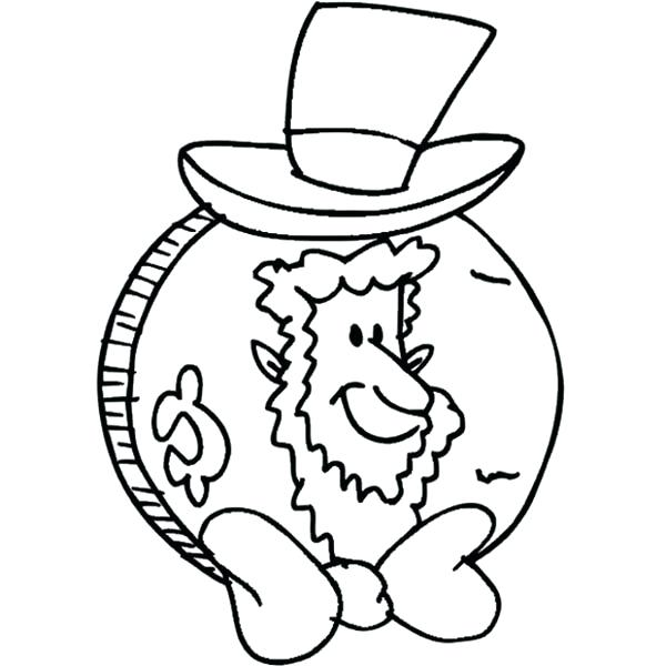 Gold Coins Coloring Pages