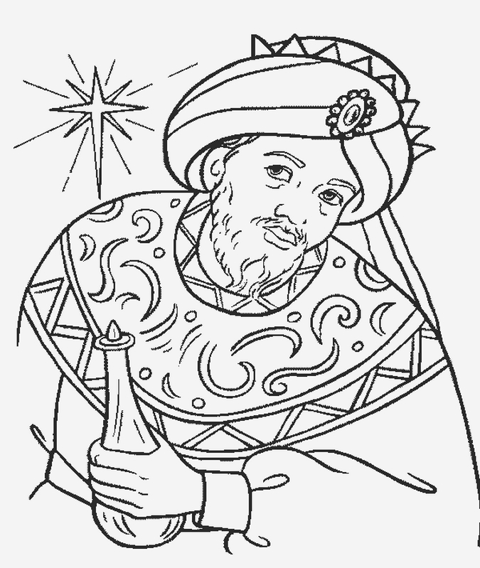 675x799 Wise Man Coloring Page Biblical Magi Three Kings