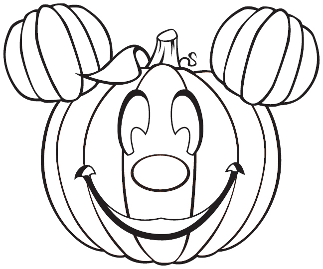 648x540 Free Mickey Mouse Halloween Coloring Pages