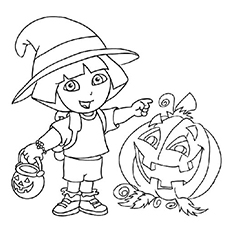 230x230 Halloween Coloring Pages