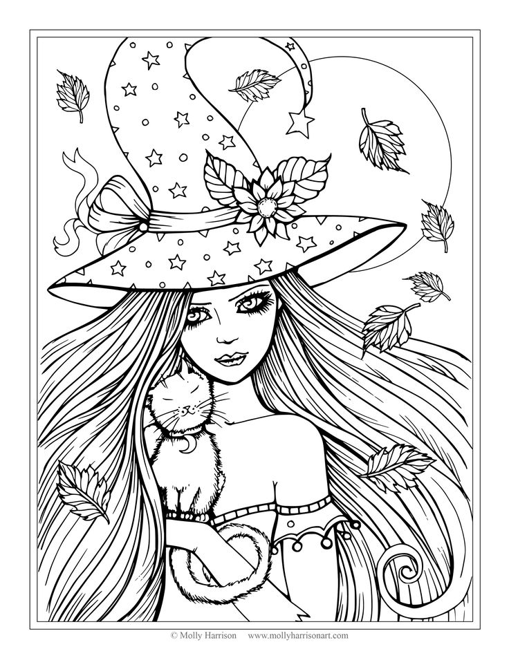 736x952 Halloween Coloring Pages Cute