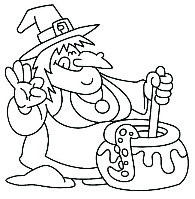 650x662 Halloween Coloring Pages For Kids Icontent