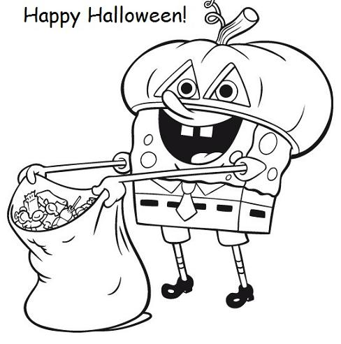 488x492 Spongebob Coloring Pages Halloween Spongebob Halloween Coloring
