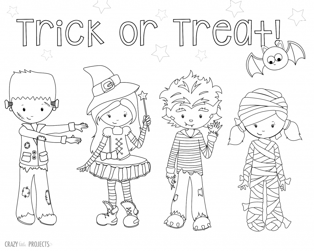 1024x819 Cute Free Printable Halloween Coloring Pages