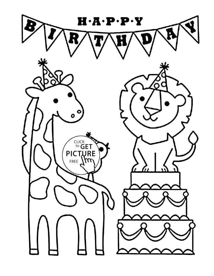 736x951 Birthday Cake Coloring Page Happy Birthday Mom Coloring Cards