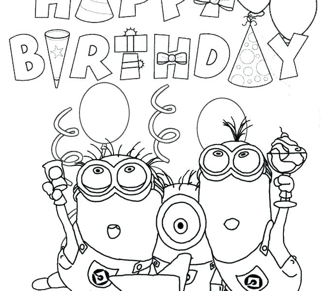 670x600 Happy Birthday Coloring Pages Mickey Mouse Disney Happy Birthday