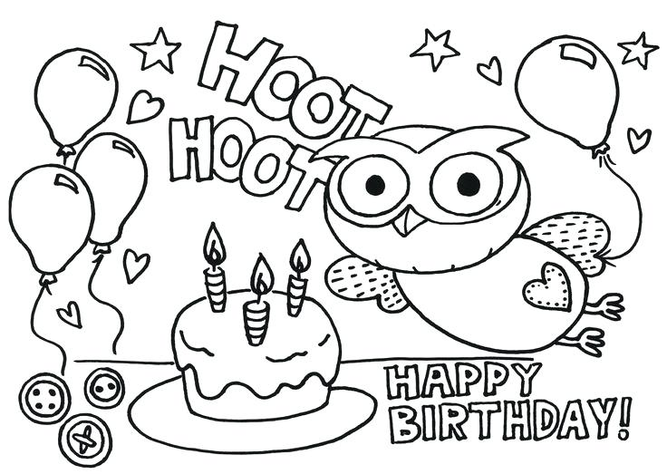 736x523 Happy Birthday Coloring Pictures Happy Birthday Coloring Pages