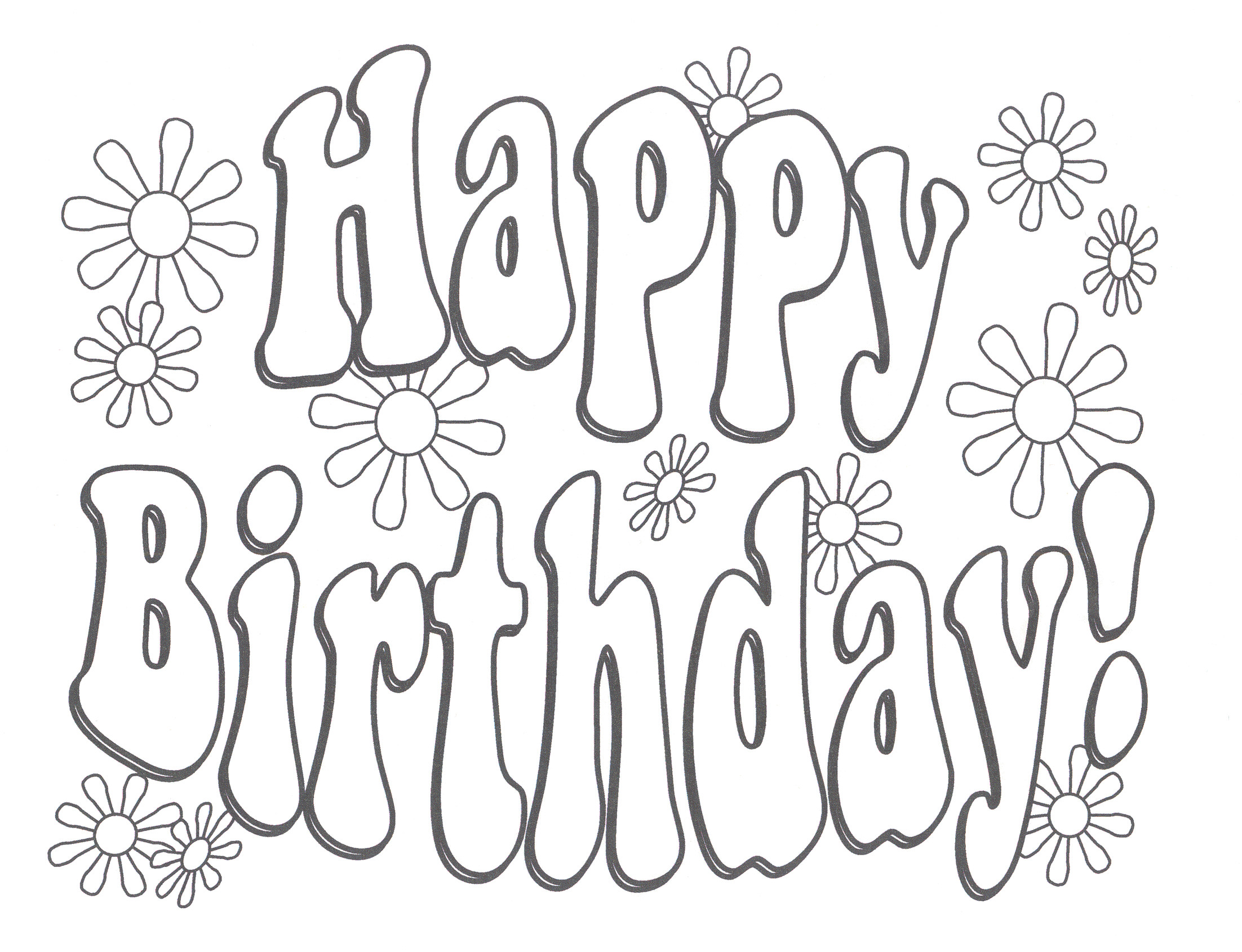 2204x1690 Happy Birthday Mom Coloring Page Fresh Happy Birthday Coloring