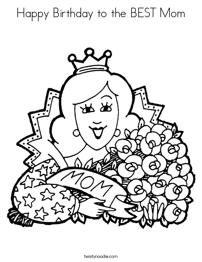 685x886 Happy Birthday Mom Coloring Pages