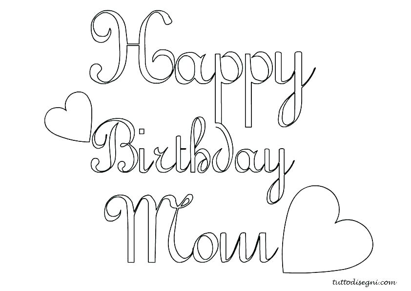 842x595 Happy Birthday Mom Coloring Pages New Mommy On Line Drawings