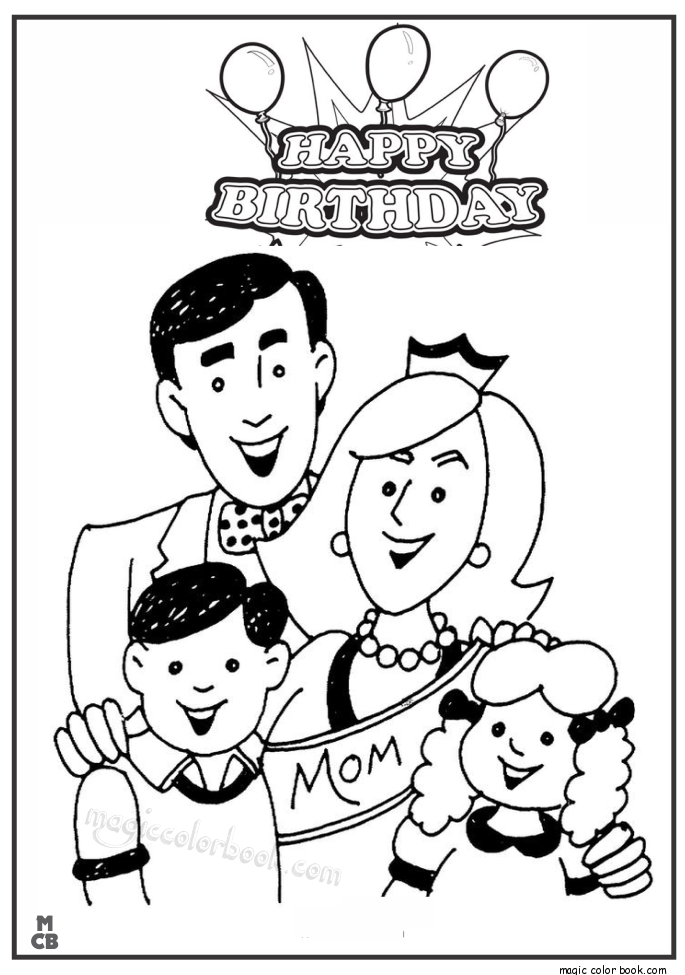 685x975 Happy Birthday Mom Coloring Pages