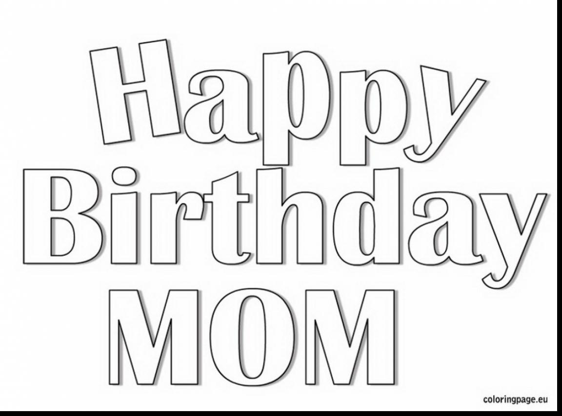 1152x853 Happy Birthday Mommy Coloring Pages