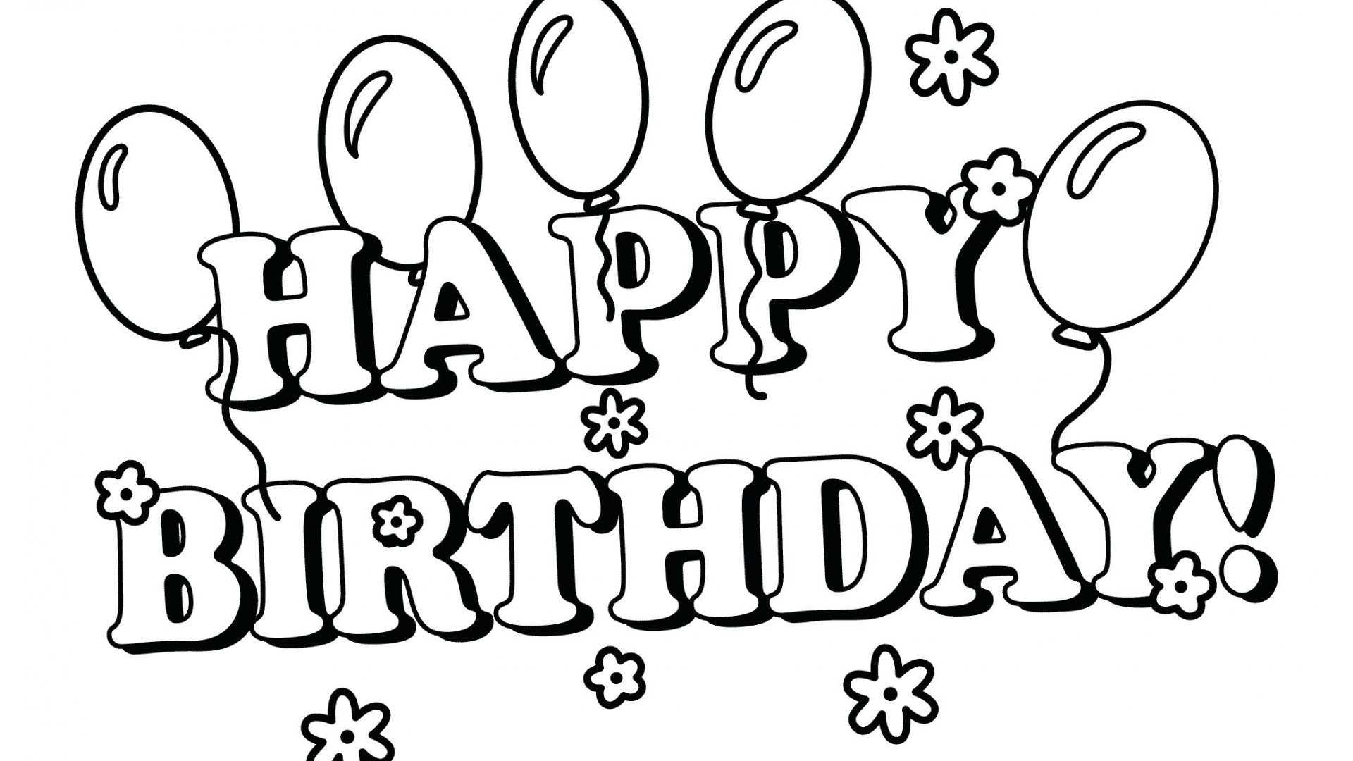 1920x1080 Happy Birthdayom Coloring Page Colouring Pages That Sayummy Sheets
