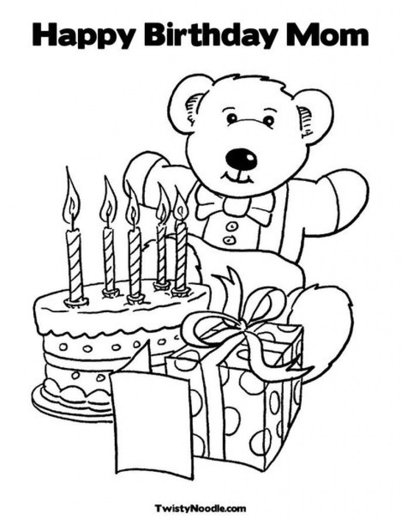 792x1024 Color Pages For Mom Happy Birthday Coloring Fun Page Picture