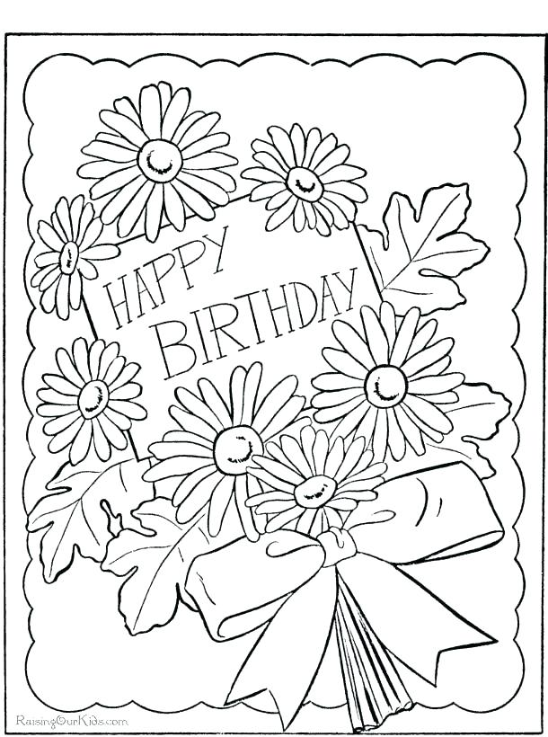 610x820 Happy Birthday Mommy Coloring Pages