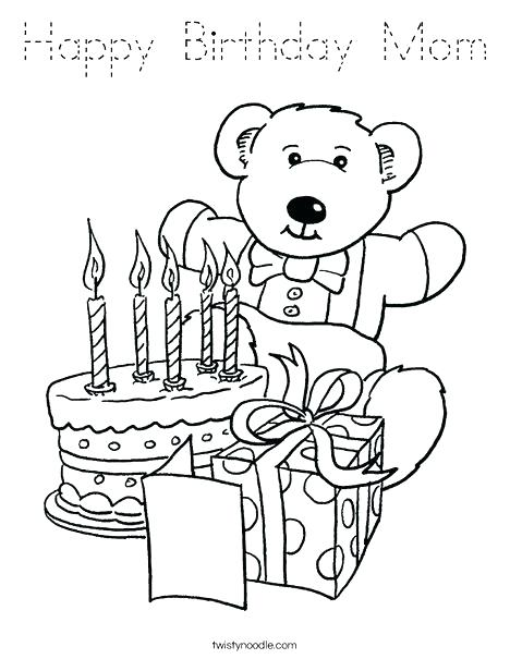 468x605 Coloring Pages Happy Birthday Happy Birthday Mommy Coloring Pages