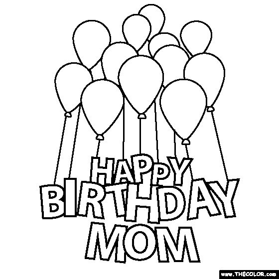 560x560 For Happy Birthday Mom Coloring Pages