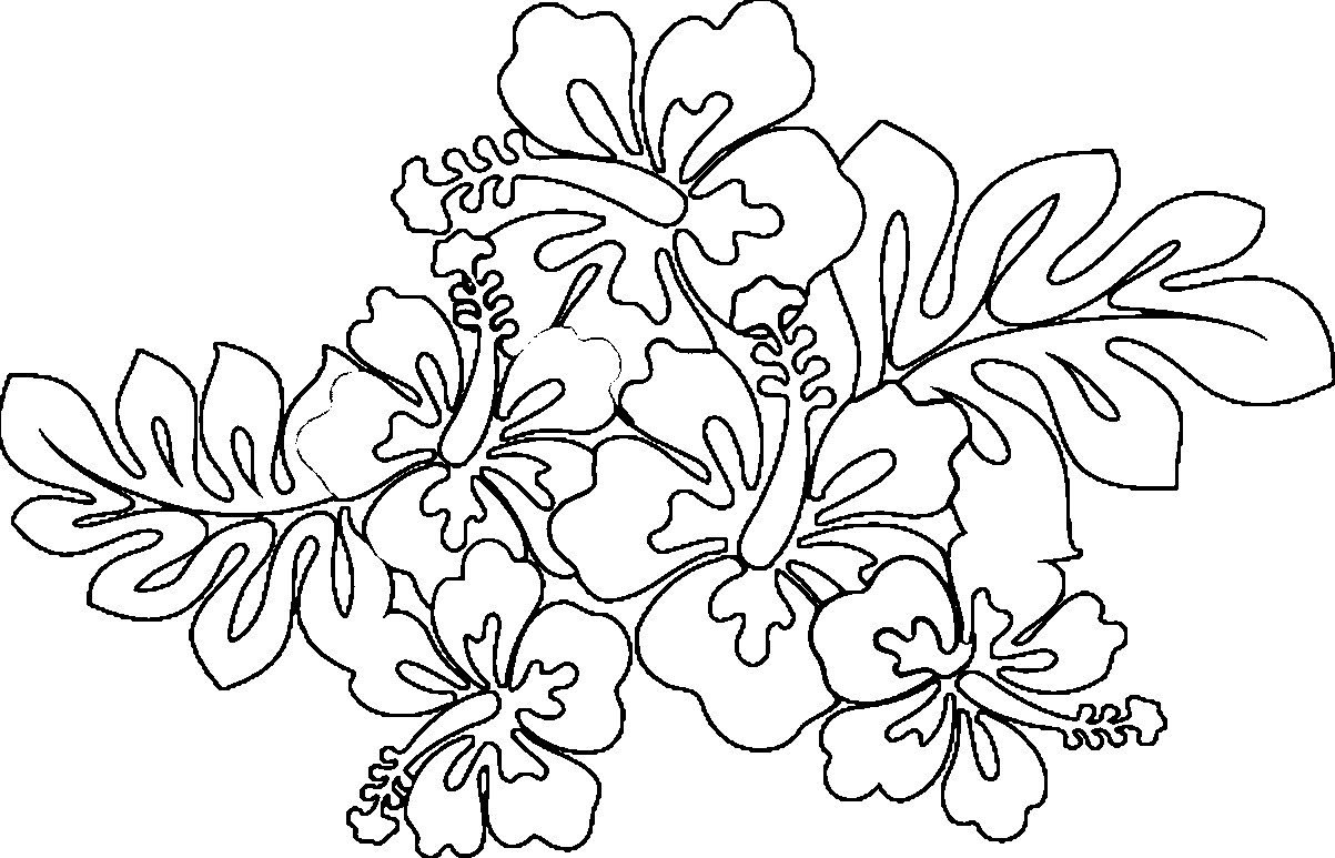 Hawaiian Flower Coloring Pages Printable at GetColorings.com | Free ...