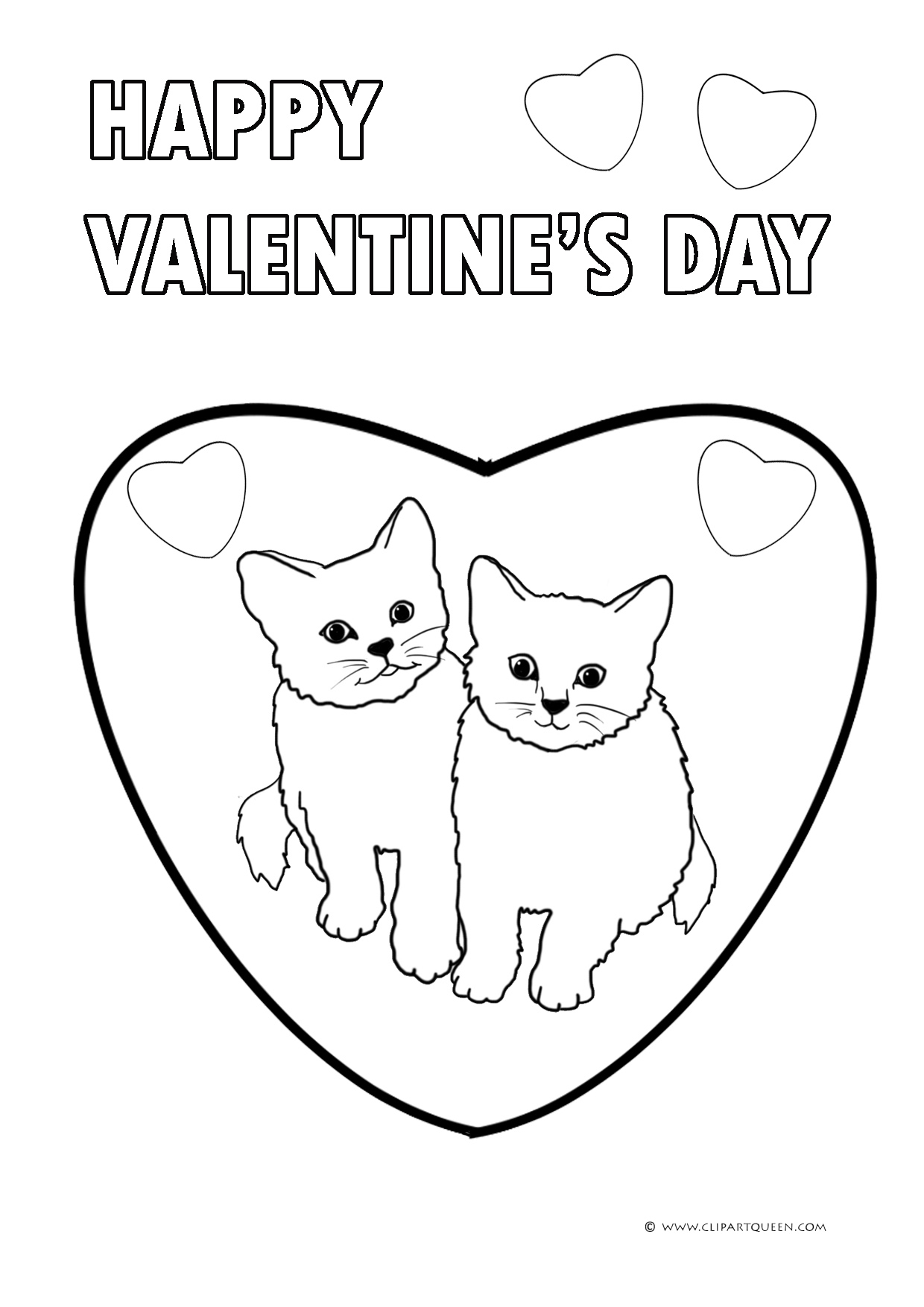 Hearts For Valentines Day Coloring Pages