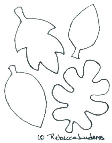 391x500 Leaves Coloring Pages Printable Tree
