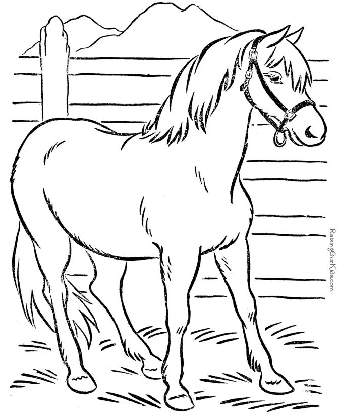 Horse Farm Coloring Pages