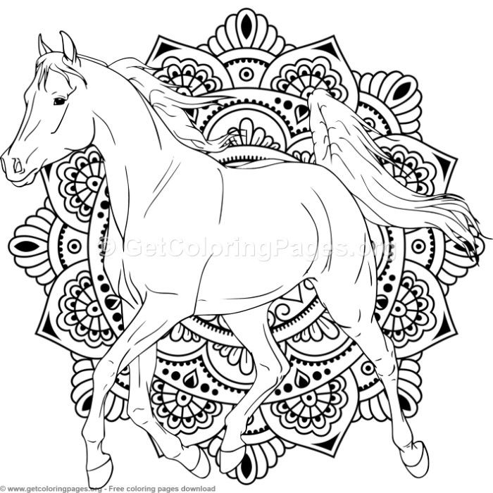 Horse Mandala Coloring Pages