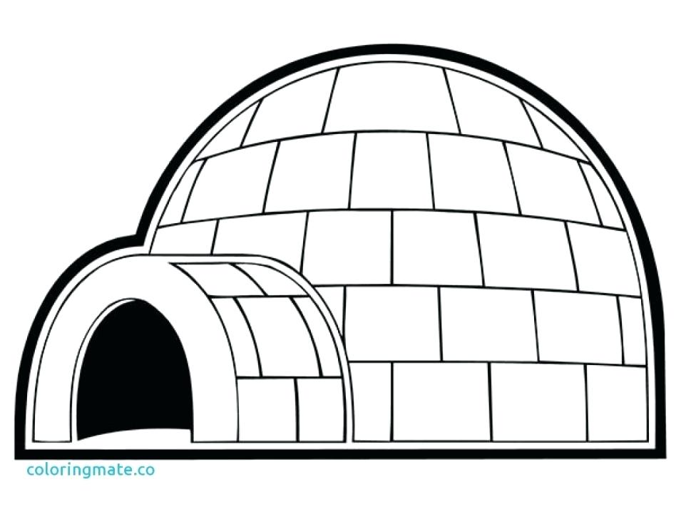 printable igloo coloring pages - photo#10