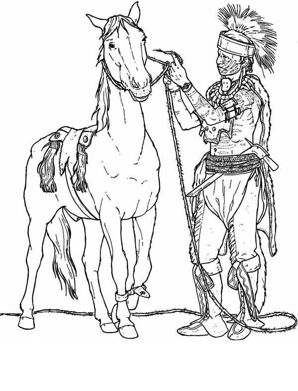 Indian Horse Coloring Pages