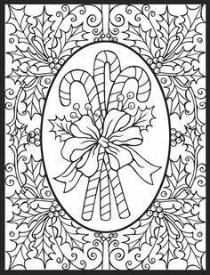 Intricate Christmas Coloring Pages