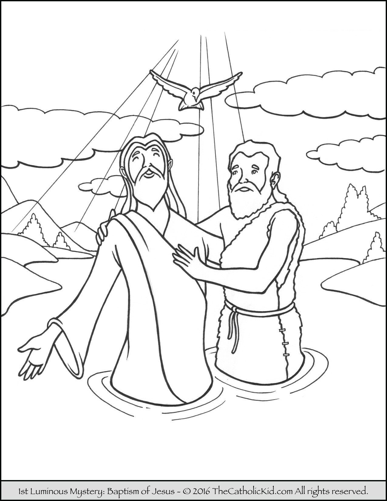 Jesus Ascension Coloring Page