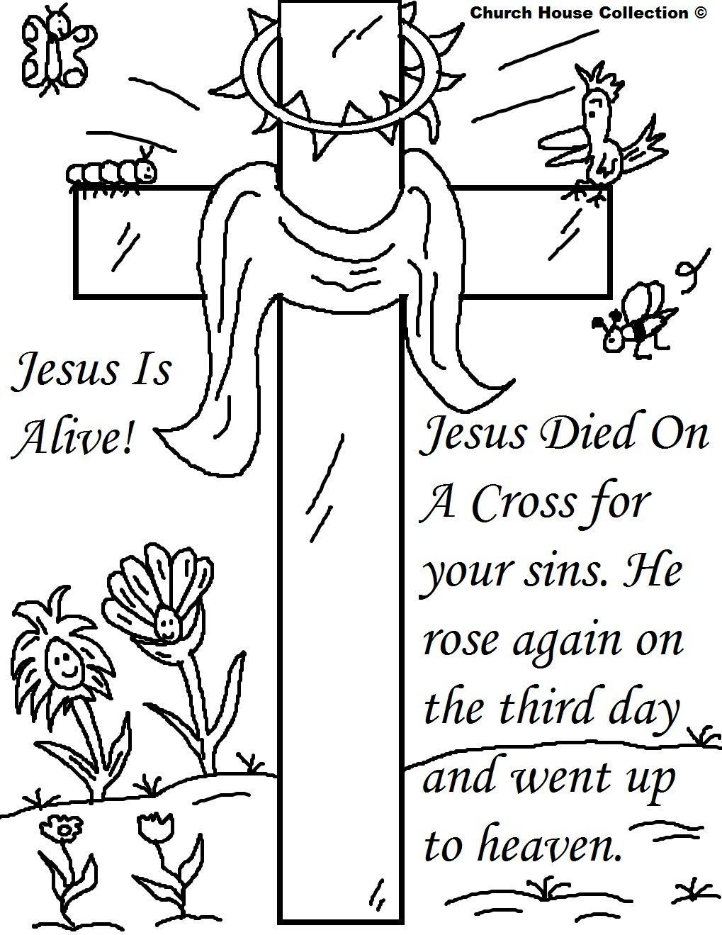 Jesus Crucifixion Coloring Pages