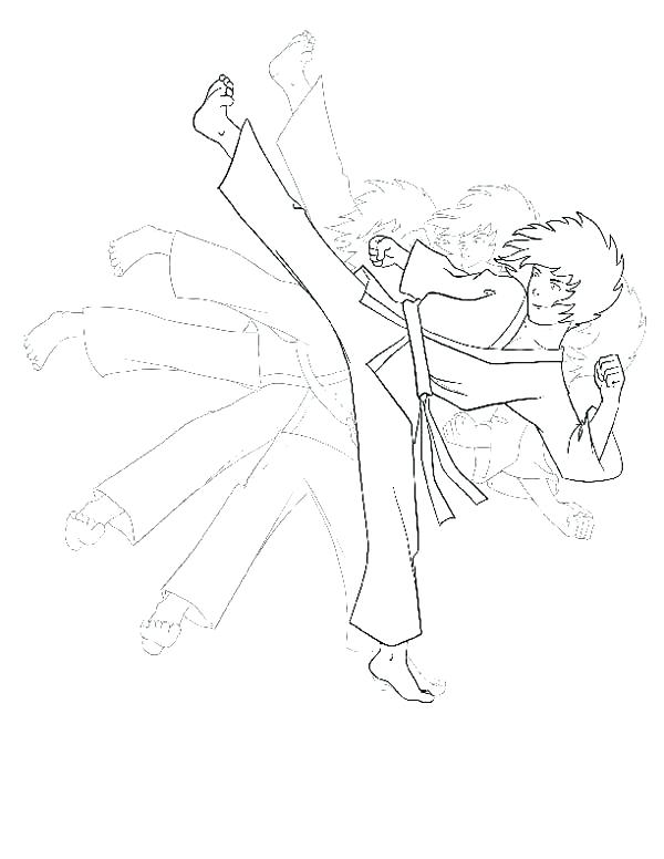 free karate coloring pages - photo#13