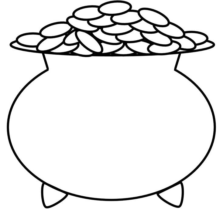 Leprechaun Pot Of Gold Coloring Page