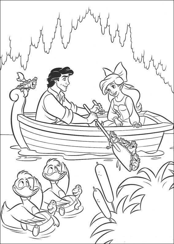 Little Mermaid And Eric Coloring Pages