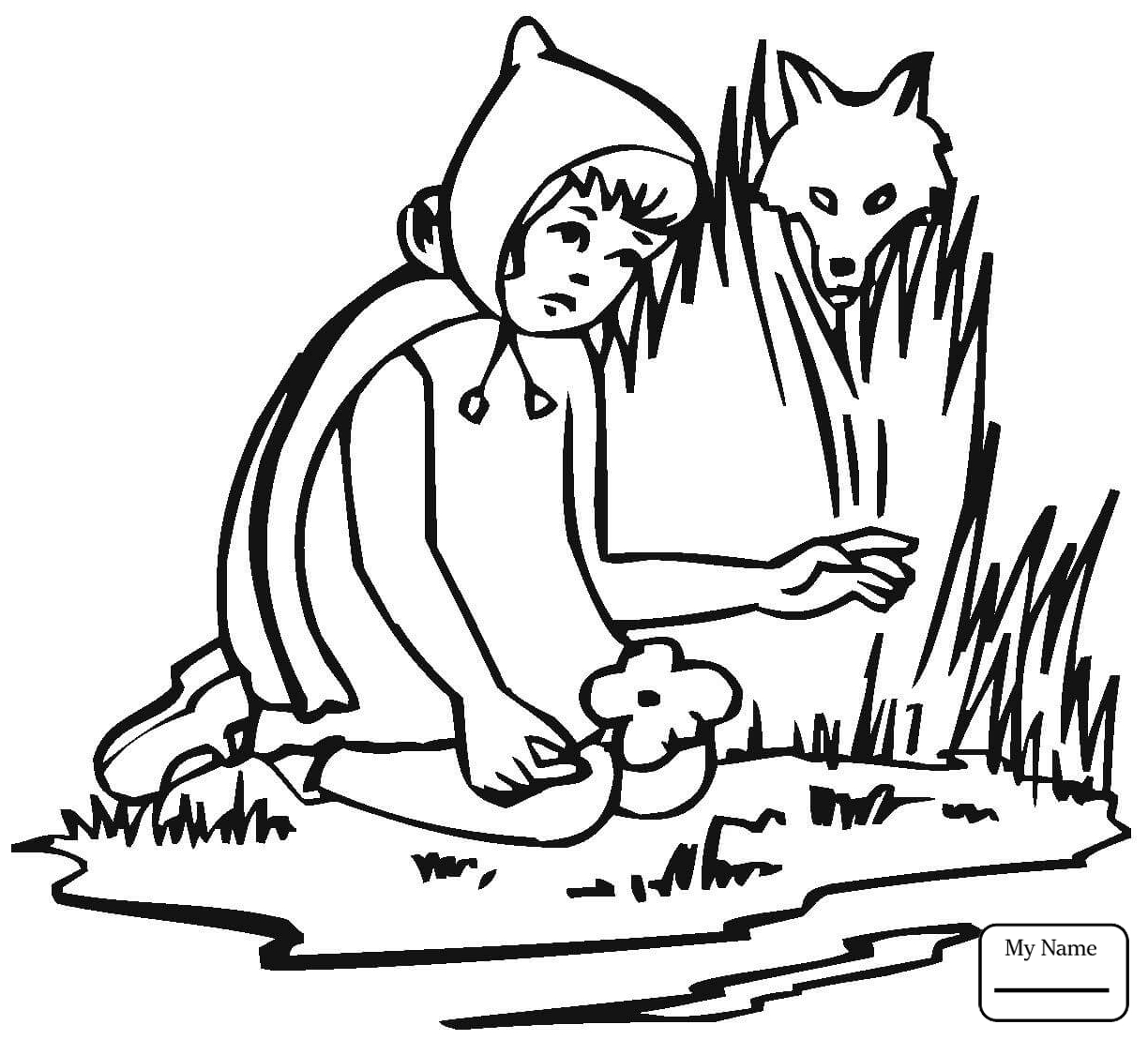 1224x1109 Little Red Riding Hood Coloring Pages With Wallpapers High